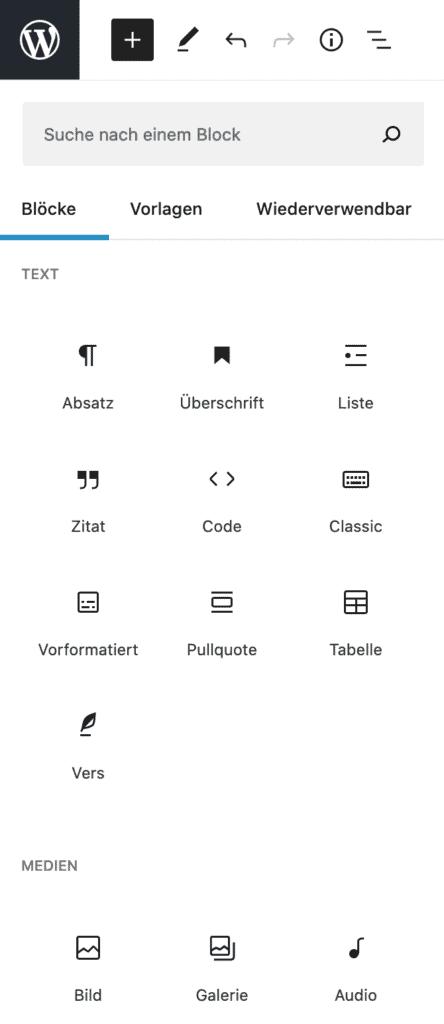 Screenshot des geöffneten Inserter-Werkzeugs.